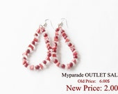 MyParade Sale! Red Earrings 'Drops'
