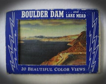 Vintage 1951 Miniature Postcard Set Boulder Dam and Lake Mead Souvenir