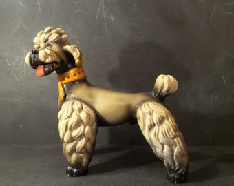 XL Poodle figurine.French poodle .Dog Figurine.1950s