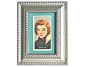 Myrna Loy Cigarette Card Framed 1930s The Thin Man Lady