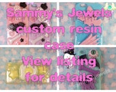 Decoden Cell Phone Case Custom Kawaii and Creepy Cute Resin Phone Case