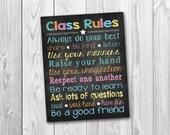 Chalkboard sign, chalkboard printable, Teacher's sign, Classroom sign, Classroom rules