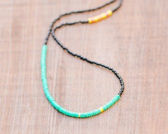 LP  Beaded necklace with bright details