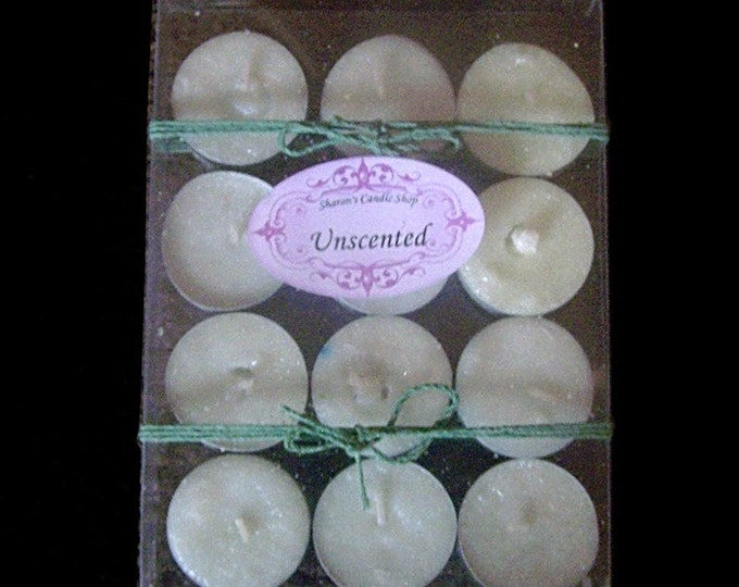White tea light candles