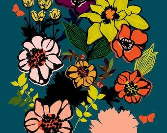 Full Bloom Flower Print 11 x 14 inches