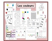 French Worksheet - Kids Learning Sheet - The colours - Kids Activities - Printable Kids Activity - Teachers Resource - Lesson Plans