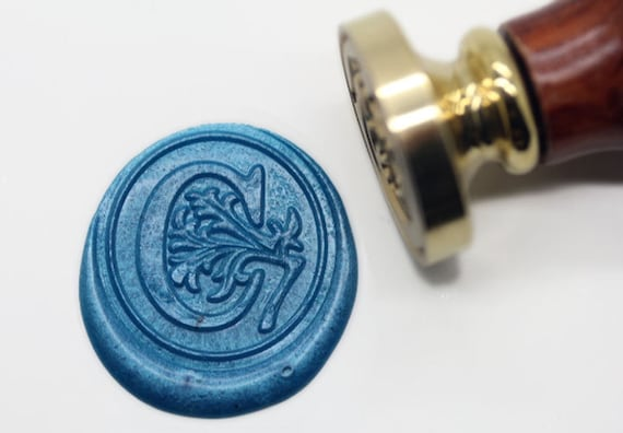 s1145 alphabet letter c wax seal stamp sealing With wax seal letter c