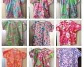 Scrub top made with choice of Lilly Pulitzer fabric (made to order)