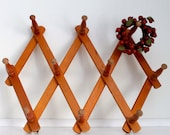 French Country Vintage Clothes Hanger Coat Rack Hat Rack Wooden Rack Retro Wall Hanging French Home Decor Vintage Wedding Wood Furniture
