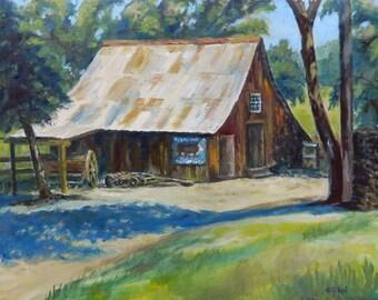 Home Decor - 'Mackey's Barn' - art print of my original oil painting