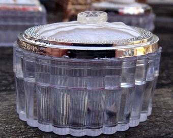Jewelry Box, Valentine's Vintage Button Assemblage, Keepsake Box, Trinket Box, Paperclip Storage, Oval Jewelry Box, Ring Box, Plastic Ribbed