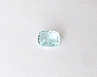 Natural Sky Blue Aquamarine, Unheated, Cushion Checkboard Cut, 10.05 carats