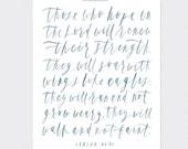 8 x 10   Isaiah 40:31