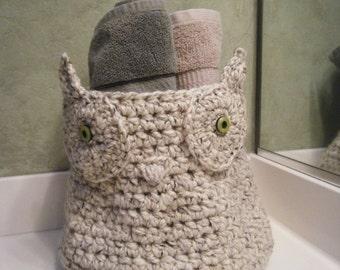 Extra Large Owl Storage/Project Basket