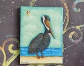 Small Original Painting Pelican