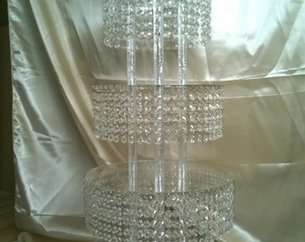 Crystal CupCake Stand Tower 5 Tier