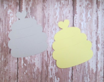 SAMPLE SALE -Grey and Yellow Hive Cutouts- DIY, projects, beehives, bee themed, hive cutouts,what will it bee, bee projects, tags