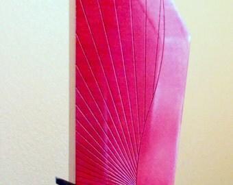 Modern Red Maple Wood Vase