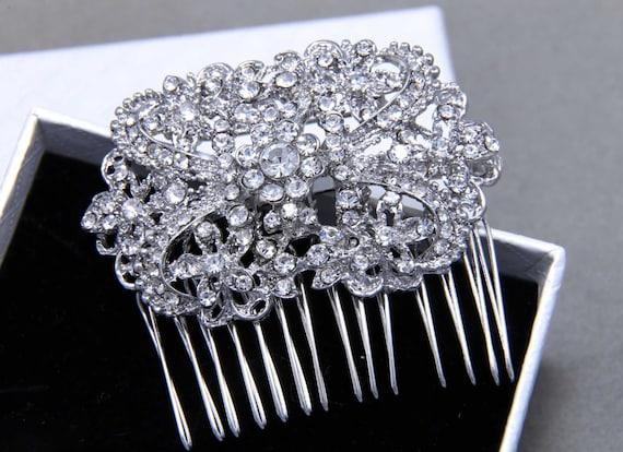 Rhinestone Hair Comb, Bridal Crystal Headpiece, Rhinestone Comb,Statement Hair Comb, Art Nouveau Wedding, Hair Jewelry, Swarovski Headpiece