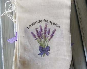 Drawstring Bag - 4 x 6 Muslin Drawstring Bag - Gift Bag - Lavender Sachet Bags - Lavender Gift Bag - Muslin Bags - Cheap Wedding Favors