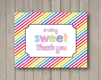 Sweet Shoppe Thank You Cards
