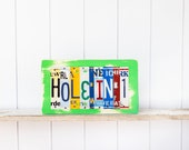 HOLE IN 1 -Recycled  License Plate Art - Up-cycled Wall Hanging - Retirement Gift for him - gift for female golfer - gift for golfer