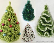 096 5 variants of Brainy X-mas Christmas tree - Crochet Pattern Amigurumi  PDF file by Pertseva Etsy
