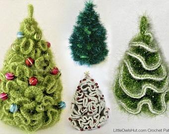 096 5 variants of Brainy X-mas Christmas tree - Crochet Pattern Amigurumi  PDF file by Pertseva Etsy