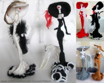 032 Lady Figurine Crochet Pattern. Doll with wire frame Amigurumi - PDF file by Pertseva Etsy