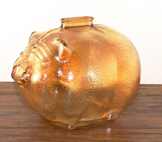 Carnival Glass Pig Bank Piggy Bank Glass Bank Carnival