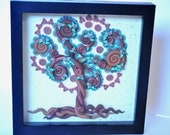 Lace Tree  -  Wall Mounted, Tree of Life Series in Polymer Clay