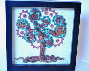 60% OFF SALE! Lace Tree  -  Wall Mounted, Tree of Life Series in Polymer Clay
