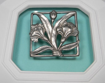 1987 Seagull of Canada Pewter Brooch, Signed and Dated Vintage
