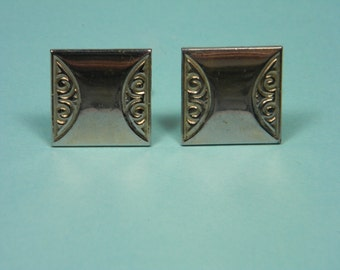 Vintage Cuff Links, Menswear, Scrolled Detail, Men's Gift