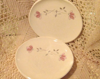 Lot of 2 Vintage Franciscan China Mod Design Plates