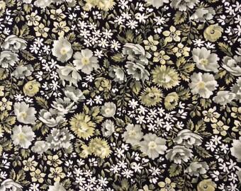 Vintage Floral Cotton Fabric 2 Plus Yards
