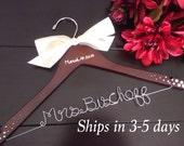 3 DAYS SALE--Rush order, bridal hanger, wedding hanger, bride gift, wire hanger, name hanger