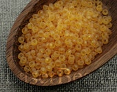 20g Seed beads 8/0 Frosted Topaz Yellow Seed Bead Rocailles NR 278 Yellow seed beads last