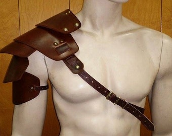 Leather Armor Sentinel segmented rounded edge shoulder
