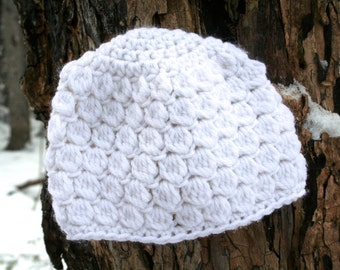 Easy Crochet Beanie Hat PATTERN Crochet flower hat pattern Instant Download