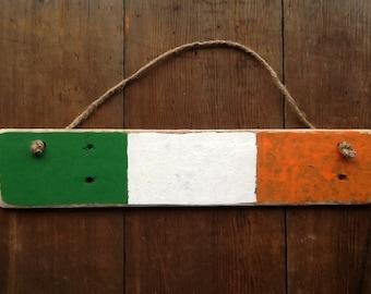 St. Patrick's Day decor Flag of Ireland Reclaimed Pallet Wood Flag of Ireland on Reclaimed wood