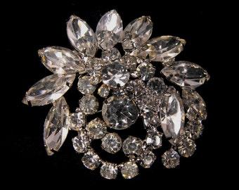 Juliana Jewelry Brooch Clear Rhinestone Beauty DeLizza and Elster Design
