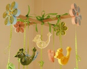 Crib Mobiles - Baby Mobile - Birds Mobile - Baby Mobiles - Baby Nursery Mobile - Quilling Mobile - Baby Shower Gift -  Baby Mobile Birds 8L.