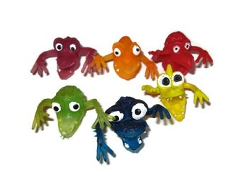 Rubber Monster Finger Puppets Ugly Jiggler Uglies Jiggly 80s 1980s toys