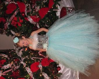 Christmas dress, Christmas tulle dress, pagent dress, flower girl tulle dress, Christmas costume, Christmas flower girl dress
