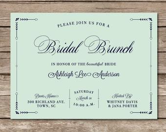 Bridal Brunch Invitation Shower Wedding Love Bridesmaids Arrows Rustic Tribal