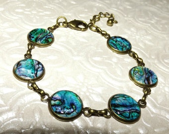 Mother of Pearl Marble Bracelet