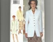 1995 Butterick Pattern 3948 size 18 20 22 Jacket Skirt