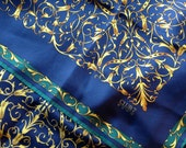 Club 7 Echo silk scarf – regal scarf - blue scarf – royal scarf – classic scarf
