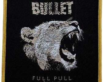 "Gold Frame ""Bullet"" (Hard Stuff) Band Full Pull Album Art Sew On Applique Patch"